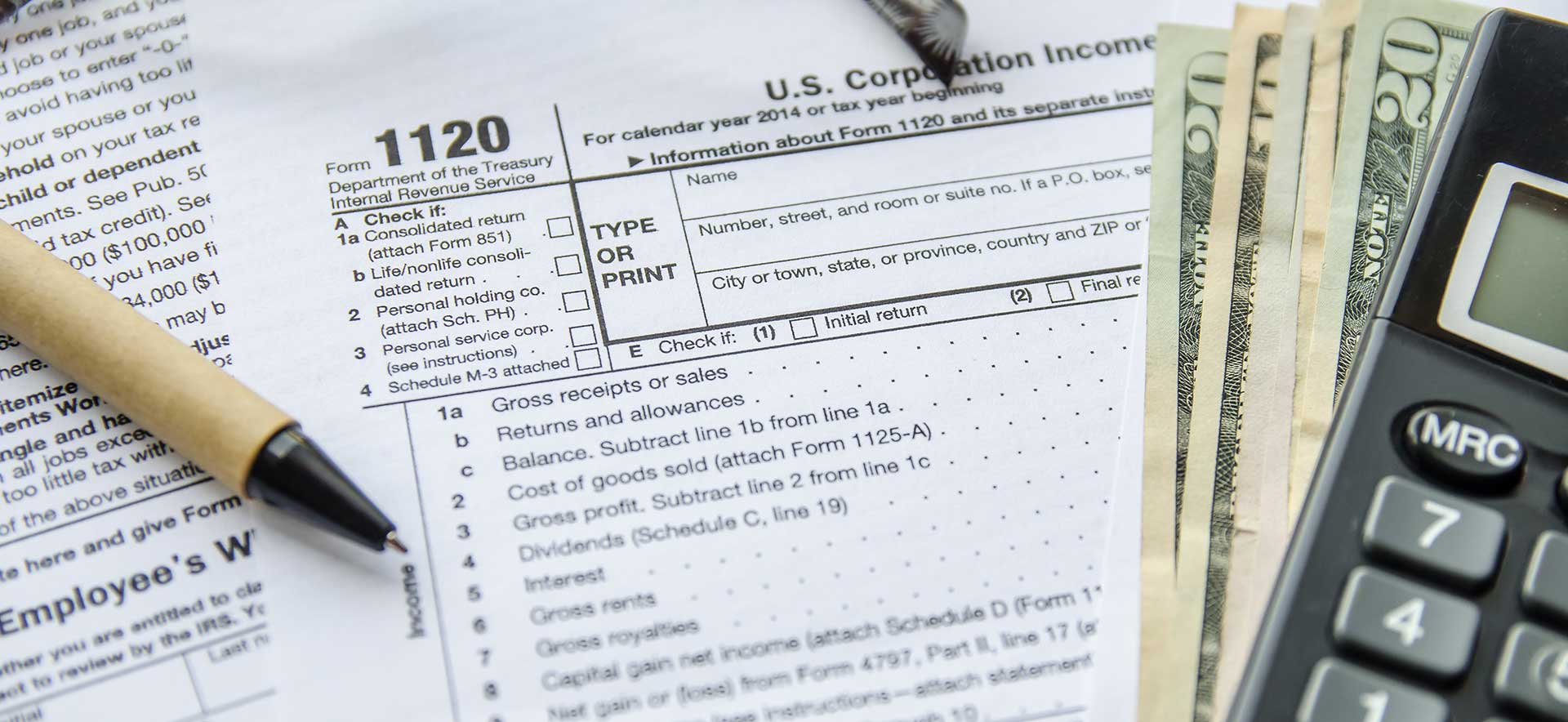 Detail of 1120 Form for U.S. Corporate Income taxes